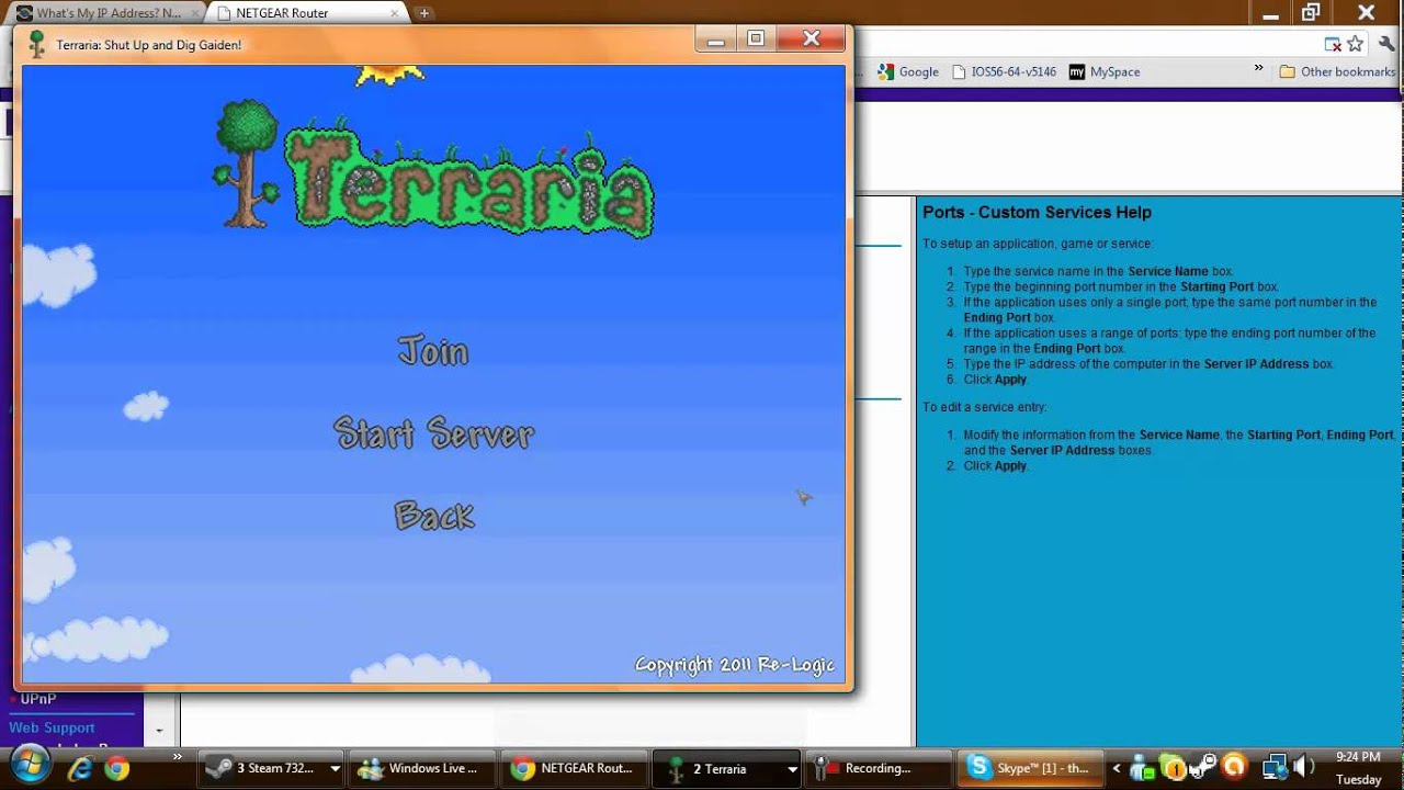 How to: Get a multiplayer server started on Terraria - YouTube