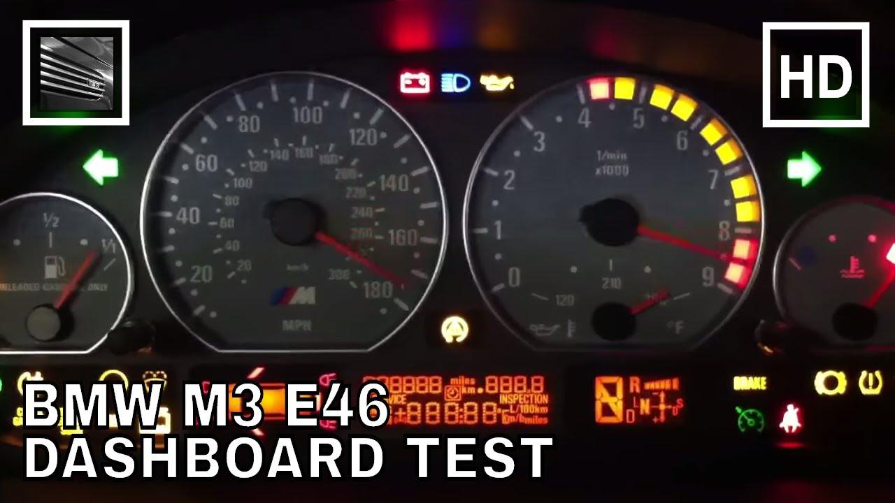 Bmw M3 E46 Dashboard Test Youtube