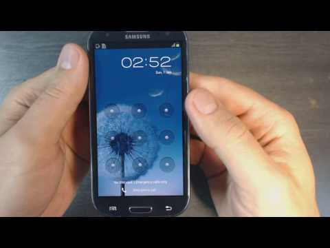 Samsung Galaxy S3 4G I9305 - How to remove pattern lock by hard reset