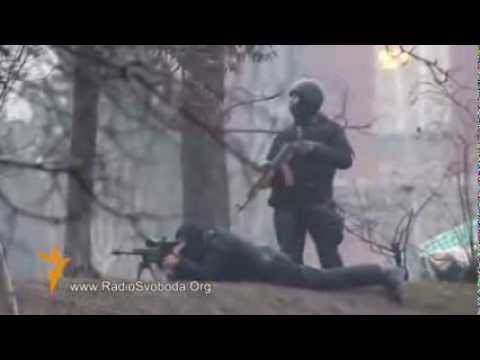 Ukraine: footage appears to show snipers shooting at protesters in Kiev