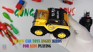 Yellow Color Car Toys Angry Birds For Kids Playing - Toys Cars For Kids