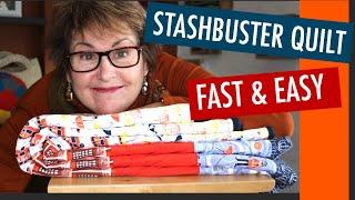 ❤️🇬🇧⭐️FAST &  EASY FREE QUILT PATTERN - BEGINNER BARGELLO - STASHBUSTER