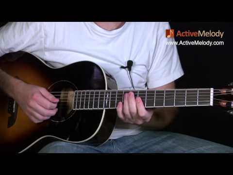 Blues Guitar Lesson on Acoustic Guitar - Big Band, Swing Style: EP008