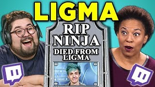 ADULTS REACT TO LIGMA (Ninja Death Hoax)