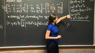 Positive Definite Matrices and Minima | MIT 18.06SC Linear Algebra, Fall 2011