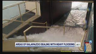 Areas of Kalamazoo dealing with heavy flooding