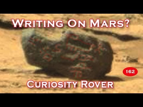Writing Found Etched On Martian Rock - Curiosity Rover 2014