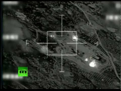 Video of French jets bombing Libya ammunition dump, rebels fire rockets
