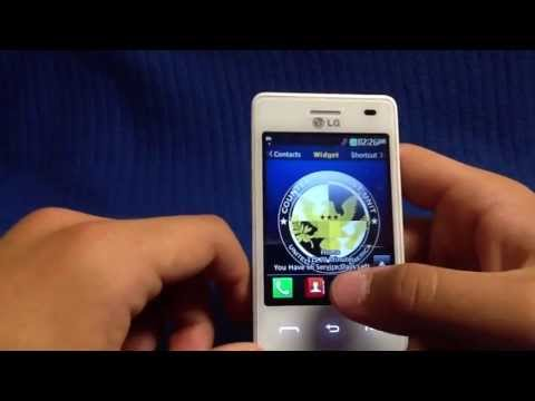 LG840G (White Version) Cell Phone Review/Overview - TracFone