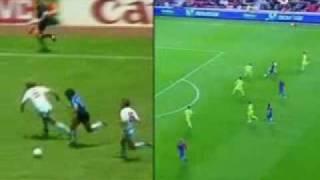 Messi Super Goal VS Maradona 1986