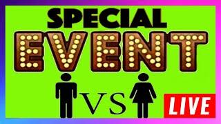 🔴 LIVE Slot Challenge ‼️ Boys VS  Girls 🎰 $600 BankRoll ‼️