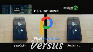 Speedtest Custom Kernel pureCAF+ VS Ancient 1.7 Xiaomi Redmi Note 5 pro (Whyred)