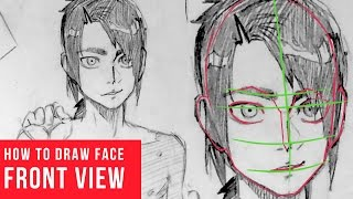how to draw ear frontal view