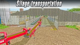 Transporting silage directly to barn with transport belts