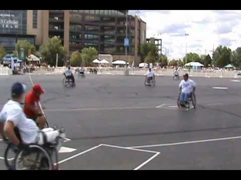 2012 National Wheelchair Softball Tournament - Nebraska Barons vs Tampa Bay Rays.wmv