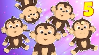 Five Little Monkeys Jumping on the Bed | Nursery Rhymes For Children | Chikaraks