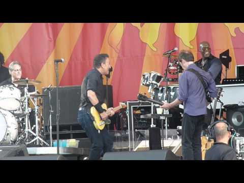 Dr John with Bruce Springsteen - at the New Orleans Jazz Fest, 2012