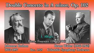 Brahms: Double Concerto, Francescatti & Fournier & Walter (1959) ブラームス ヴァイオリンとチェロのための二重協奏曲