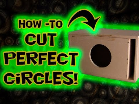 Cut Perfect Circles - How to Car Audio Speaker Subwoofer Mounting Hole - CarAudioFabrication