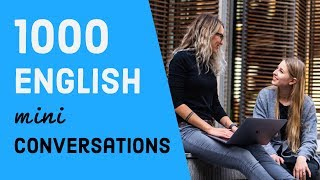 1000 English mini conversation & listening practice