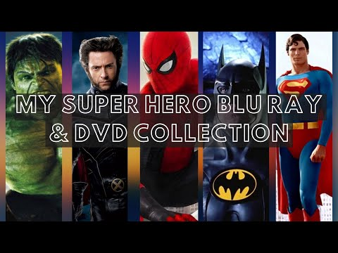 My Super Hero/Comic Book Blu ray & DVD Collection