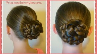 Easy Triple Braid Bun, Back To School Basic Hairstyles