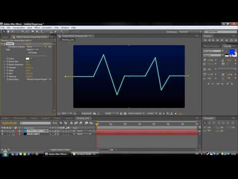Adobe After Effects Tutorial #1: Glowing line Video