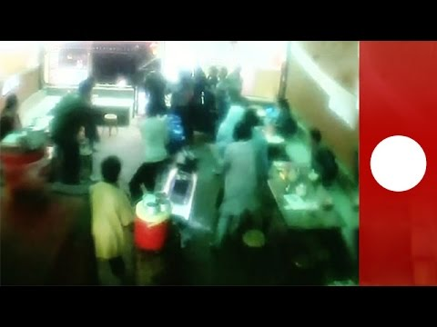 Shocking CCTV footage: Moment earthquake hits Nepal restaurant