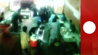 3000කට අධික ජීවිත බිලිගත් භූමිකම්පාව(cctv දර්ශන)Shocking CCTV footage: Moment earthquake hits Nepal