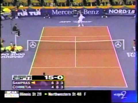 Pete Sampras great shots selection against Alex Corretja (Masters 1998 SF)
