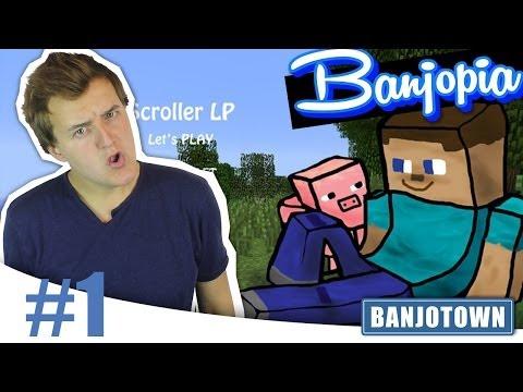 BANJOPIA #1: Het MINECRAFT avontuur BEGINT!