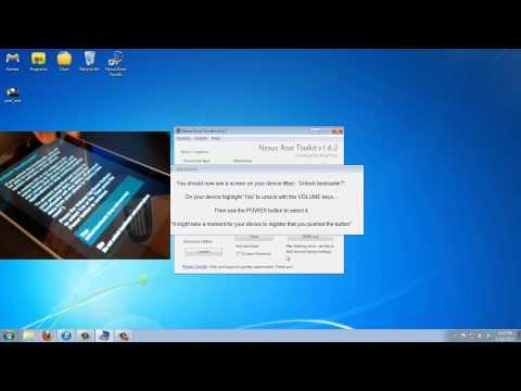 Easily Unlock and Root Your Nexus 7 using Nexus Root Toolkit