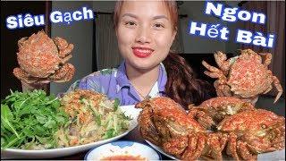 🇯🇵Cua Mủ Bảo Hiểm Siêu Gạch Kì Lạ Ăn Kèm Gỏi Xoài Tôm Nhảy - Helmet Crab & Penaeus japonicus #258