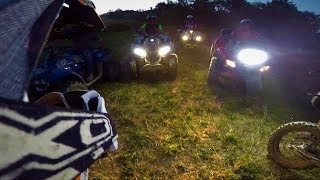 Enduro Night Riding KTM || Moto - Quad || Enduro at Night Italy || Bike Quad
