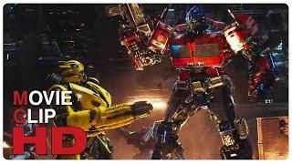 Optimus Prime Vs Decepticons - Fight Scene | BUMBLEBEE (2018) Movie CLIP HD