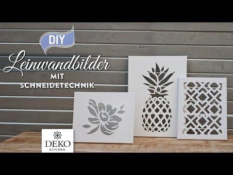 DIY: stylische Leinwandbilder für Wohndeko selbermachen [How to] Deko Kitchen