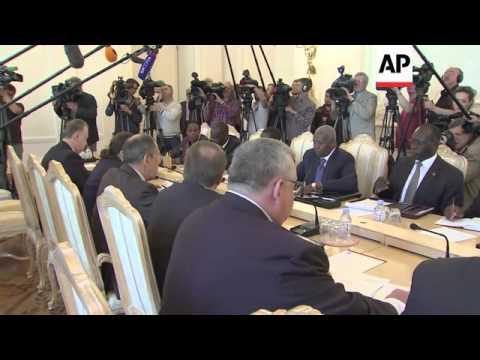 "Ukraine's acting President Turchynov labels referendum a ""farce""; Russian FM Lavrov calls for dialog"