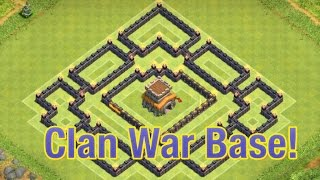 Clash of Clans - NEW TH8 Clan War Base With Air Sweeper