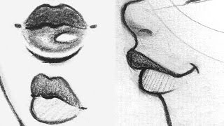 ? How to Draw Lips | Front, Side, 3/4 View ?