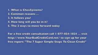 ChexSystems - The Little Black Book