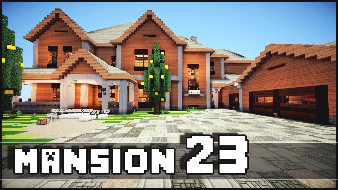 Minecraft mansion 23 youtube for Houses images pictures