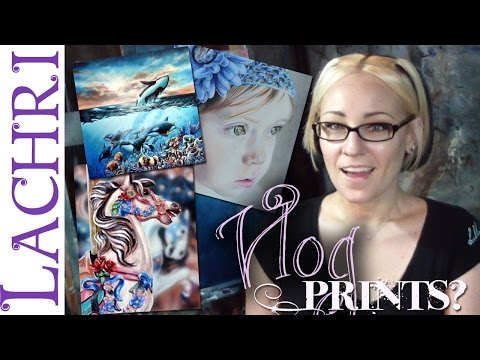 Artist Vlog - getting prints made w/ Lachri