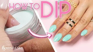 💅🏼How to do Dip Powder for Beginners ✨  Nail Tutorial ⚬ Dip Powder 101 📚✅