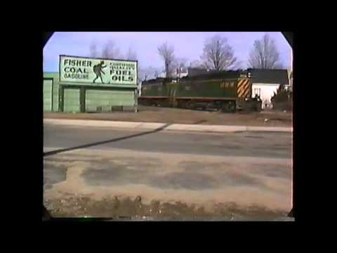 NHN GP9's on empty stone train Rochester to Ossipee,NH  03/12/1991