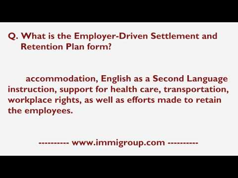 What is the Employer-Driven Settlement and Retention Plan form?