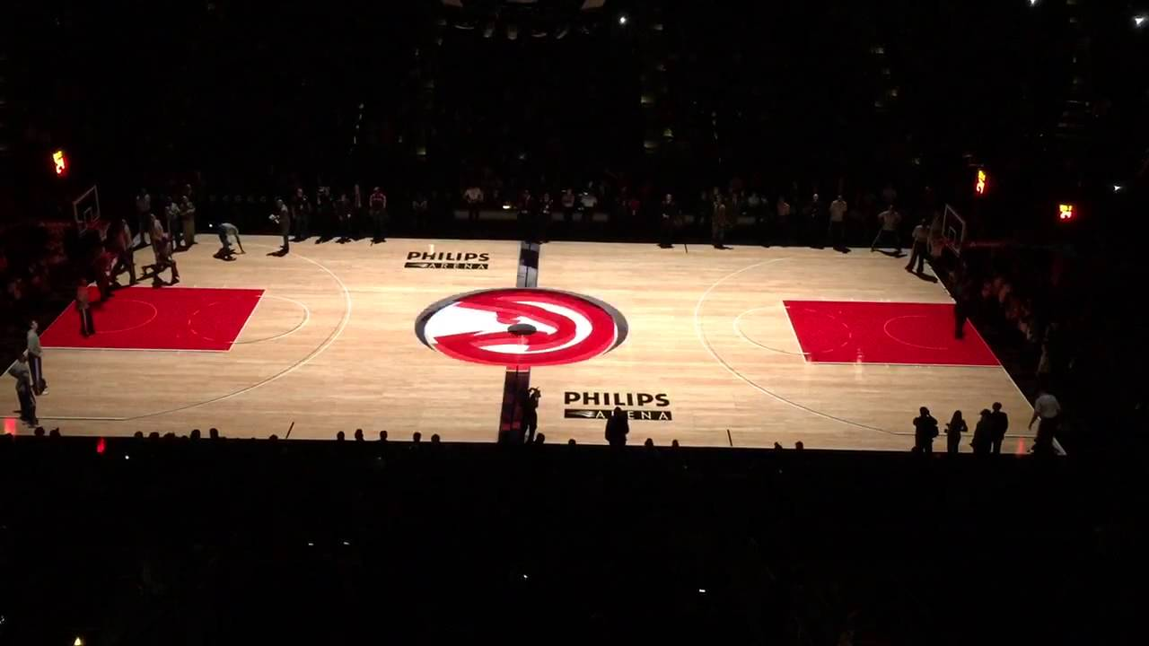 Philips Arena Atlanta Hawks 3d Basketball Court Projection