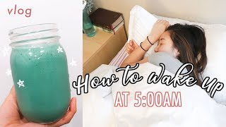How to Wake Up at 5AM: Daylight Saving Time Vlog