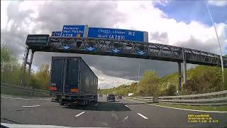 UK - A2/M2 - Dover to Dartford - April 2018