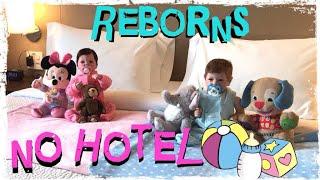 Bebês Reborn no HOTEL! Rotina na VIAGEM dos Bebês