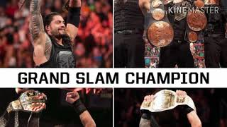 Roman reigns all championship won | Roman reigns all championship won in WWE